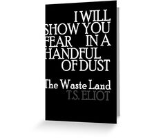 Handful of Dust 2 Greeting Card