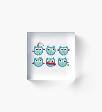 New christmas Owls in shop : New arrival  Acrylic Block