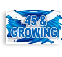 45 & GROWING FREE SCOTLAND Canvas Print