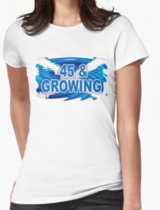 45 & GROWING FREE SCOTLAND Womens Fitted T-Shirt