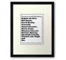Lefties Framed Print