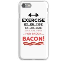 Funny Exercise Bacon Design iPhone Case/Skin