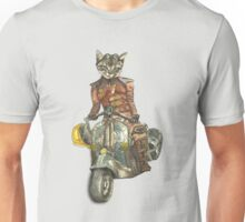 Vintage Motorcycle Cat With Goggles Unisex T-Shirt
