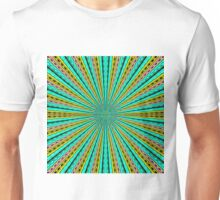 green yellow purple and black abstract pattern background Unisex T-Shirt