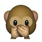 Emoji Speak No Evil Monkey by assorted