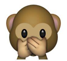 Emoji Speak No Evil Monkey by assorted