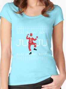 Ugly Christmas Sweater - Santa JuJu On Dat Beat Women's Fitted Scoop T-Shirt
