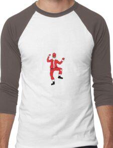 Ugly Christmas Sweater - Santa JuJu On Dat Beat Men's Baseball ¾ T-Shirt