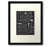 The Waste Land 2 Framed Print
