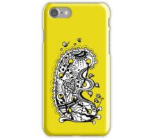 The Letter E Alphabet Aussie Tangle in Black and White iPhone Case/Skin