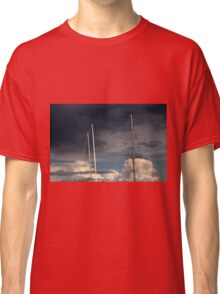 sailing in the cloudy sky Classic T-Shirt