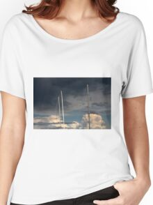 sailing in the cloudy sky Women's Relaxed Fit T-Shirt