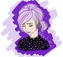 Lavender Hair Photographic Print