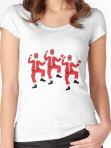 Dancing Santa - Juju on Dat Beat Women's Fitted Scoop T-Shirt