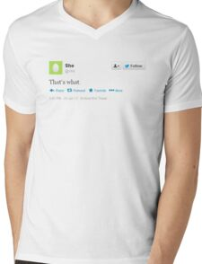 That's what she tweeted (black) Mens V-Neck T-Shirt