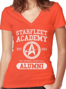 Starfleet Academy - Command DIvision Women's Fitted V-Neck T-Shirt
