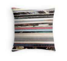old vinyl records Throw Pillow