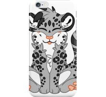 Cute Chibi Snow Leopard iPhone Case/Skin