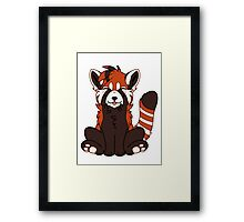 Cute Chibi Red Panda Framed Print