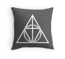 The Geekly Hallows - The Ultimate Geek T-Shirt Throw Pillow