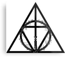 The Geekly Hallows - The Ultimate Geek T-Shirt Metal Print