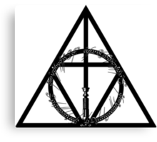The Geekly Hallows - The Ultimate Geek T-Shirt Canvas Print