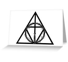The Geekly Hallows - The Ultimate Geek T-Shirt Greeting Card