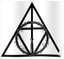 The Geekly Hallows - The Ultimate Geek T-Shirt Poster