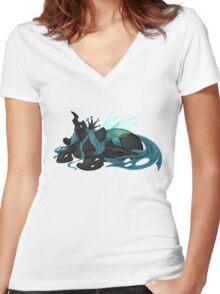 Sleepy Queen Chrysalis  Women's Fitted V-Neck T-Shirt