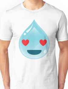 Water Drop Emoji Heart and Love Eyes Unisex T-Shirt