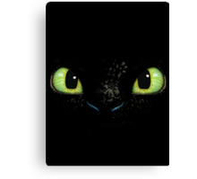 Toothless fiery eyes Canvas Print