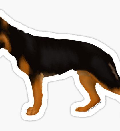 German Shepherd: Red & Black Blanket Sticker