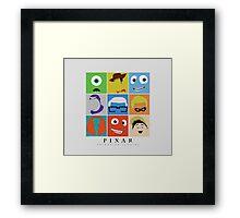 Disney Pixar Characters Framed Print