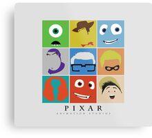 Disney Pixar Characters Metal Print