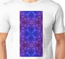 "26. ""Spirit of India: Fleur-Web"" in deep blue and violet Unisex T-Shirt"