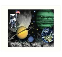 SPACE-REMEMBERING THOSE FAMOUS FIRST WORDS NEIL ARMSTRONG SAID AS HE STEPPED ON THE LUNAR SURFACE--``That's one small step for man; one giant leap for mankind``PICTURE Art Print