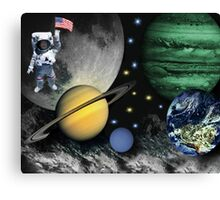 SPACE-REMEMBERING THOSE FAMOUS FIRST WORDS NEIL ARMSTRONG SAID AS HE STEPPED ON THE LUNAR SURFACE--``That's one small step for man; one giant leap for mankind``PICTURE Canvas Print