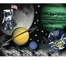 SPACE-REMEMBERING THOSE FAMOUS FIRST WORDS NEIL ARMSTRONG SAID AS HE STEPPED ON THE LUNAR SURFACE--``That's one small step for man; one giant leap for mankind``PICTURE Photographic Print