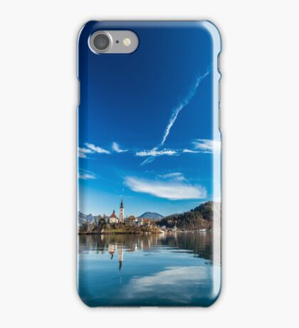 morning at the lake of Bled iPhone Case/Skin