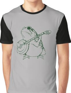 Frog with banjo funny Graphic T-Shirt