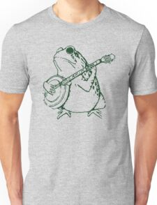 Frog with banjo funny Unisex T-Shirt