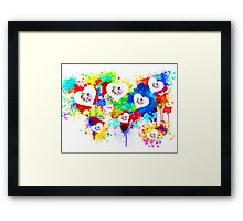colorfull love Framed Print