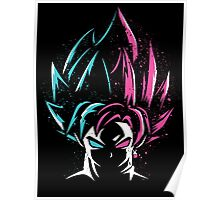 goku god and goku rose Poster
