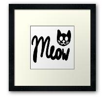 Kawaii Meow  Framed Print
