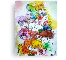 Sailor Scout Splash Canvas Print