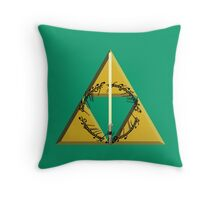 The Geekly Hallows Full Color - The Ultimate Geek T-Shirt Throw Pillow