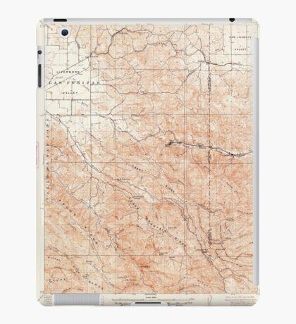 USGS TOPO Map California CA Tesla 301819 1907 62500 geo iPad Case/Skin