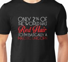 Only 2% Of The World Has Red Hair Funny Unisex T-Shirt