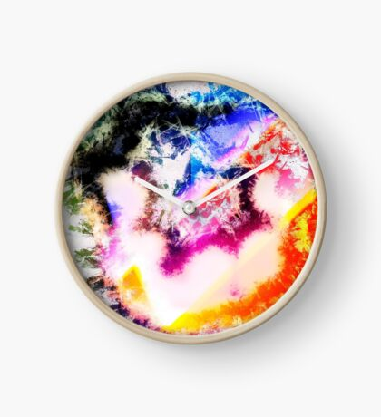 Digitally generated Multicoloured abstract pattern  Clock