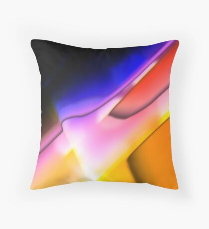 Digitally generated Multicoloured abstract pattern  Throw Pillow